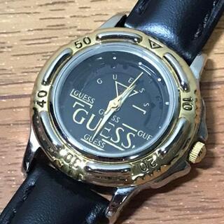 ゲス(GUESS)のGUESS ゲス 時計 ヴィンテージ ゴールド レザー レディース(腕時計)
