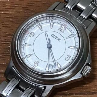ゲス(GUESS)のGUESS ゲス 時計 ホワイト ステンレス レディース デイト付き(腕時計)