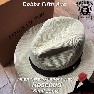 ボルサリーノ(Borsalino)のDOBBS★ドブズ・ローズバッド・サンド59CM【ミランストロー】(ハット)