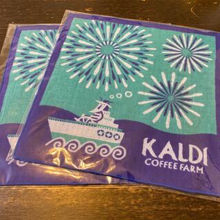 カルディ(KALDI)のKALDI オリジナル今治タオルハンカチ2枚セット(タオル)