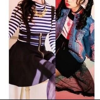 アンクルージュ(Ank Rouge)のone spo ハーネススカート&アンクルージュ Gジャンセット(ミニスカート)