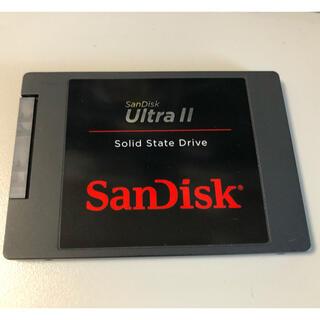 サンディスク(SanDisk)のSSD SATA SanDisk Ultra II 480GB 中古(PCパーツ)