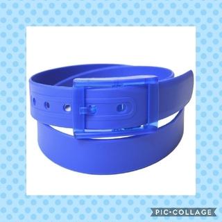 【青/ブルー】 シリコン ラバー ベルト(ベルト)