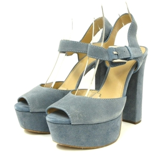 マイケルコース(Michael Kors)のマイケルコース サンダル ハイヒール 青 ブルー 8.5M 靴 ECR7(サンダル)