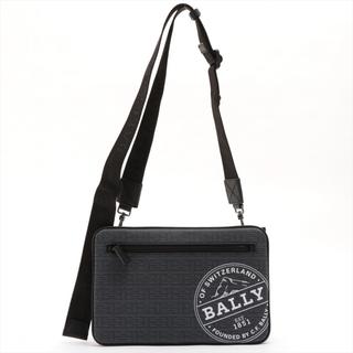 バリー(Bally)のバリー シルバー PVC  ブラック×ネイビー メンズ ショルダーバッグ(ショルダーバッグ)