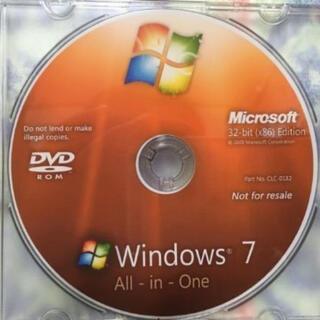 Microsoft - MS Windows7 32bit(x86) 全エディションインストールディスク