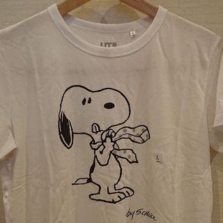 ユニクロ(UNIQLO)のユニクロ  スヌーピー Tシャツ【新品・タグ付き】Lsize  ゆうパケット発送(Tシャツ(半袖/袖なし))