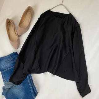 ドゥロワー(Drawer)のドゥロワー シルクカットソー 日本製 秋服 プルオーバー トップス 絹 ブラウス(カットソー(長袖/七分))