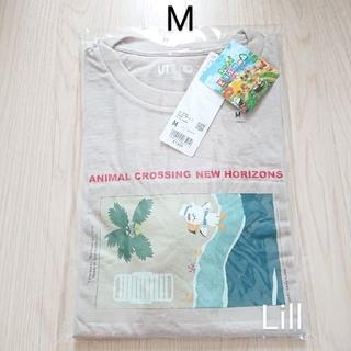 ユニクロ(UNIQLO)のユニクロ どうぶつの森 Tシャツ ナチュラル M 新品(その他)