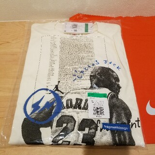 ナイキ(NIKE)のジョーダン x トラヴィス スコット x フラグメント Tシャツ XL(Tシャツ/カットソー(半袖/袖なし))