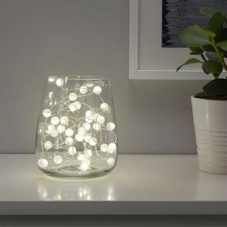 イケア(IKEA)のイケア スノィラ LEDライトチェーン 全40球 室内用/電池式 シルバーカラー(その他)