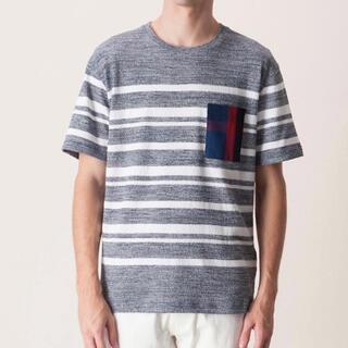 ブラックレーベルクレストブリッジ(BLACK LABEL CRESTBRIDGE)の《新品》ブラックレーベルクレストブリッジ  ボーダーポケットTシャツ(Tシャツ/カットソー(半袖/袖なし))