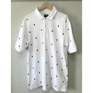 ステューシー(STUSSY)のレア STUSSY アイコン総柄 刺繍 ポロシャツ  / ステューシー オールド(ポロシャツ)