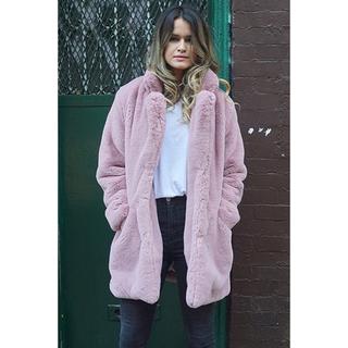 ドゥーズィエムクラス(DEUXIEME CLASSE)の美品 Apparis ファーコート ピンク ファージャケット(毛皮/ファーコート)