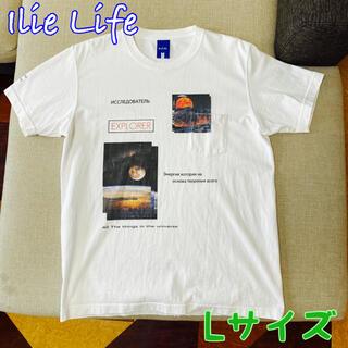 アイリーライフ(IRIE LIFE)の【アイリーライフ】ホワイト プリント Tシャツ(Tシャツ/カットソー(半袖/袖なし))