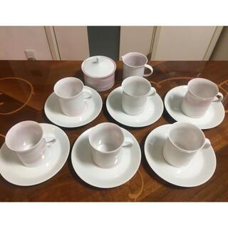 ローゼンタール(Rosenthal)のローゼンタール デミタスカップ&ソーサー6客、ポット、クリーム&シュガーポット(食器)
