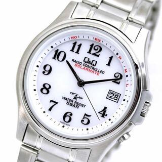 シチズン(CITIZEN)のシチズン CITIZEN Q&Q 電波ソーラー メンズ 腕時計 ソーラー電波(金属ベルト)