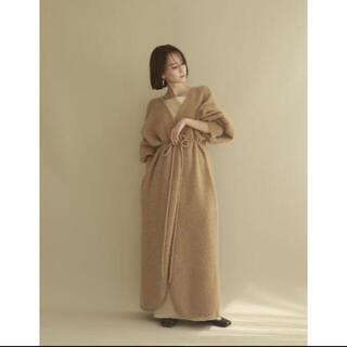 トゥデイフル(TODAYFUL)のlouren mohair long knit cardigan(ニットコート)