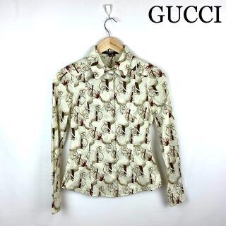 グッチ(Gucci)のGUCCI グッチ シェリー柄 シャツ レディース(シャツ/ブラウス(長袖/七分))