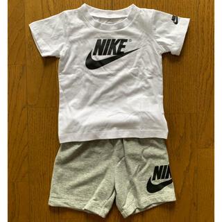 ナイキ(NIKE)のNike ベビー服 セットアップ 白Tシャツ&グレー短パン 12ヶ月用(その他)