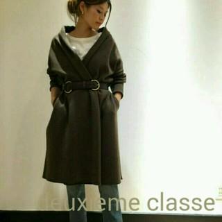 ドゥーズィエムクラス(DEUXIEME CLASSE)の完売品!新品★deuxieme classe★スムースニットガウン(ニットコート)
