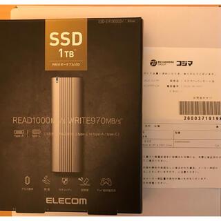 エレコム(ELECOM)の 外付けSSD  1TB ELECOM USB3.2(gen2) 中古 (PCパーツ)