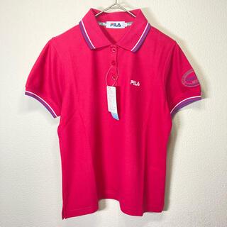 フィラ(FILA)の☆未使用☆ FILA フィラ ポロシャツ ワッペン レディース Mサイズ ピンク(ポロシャツ)
