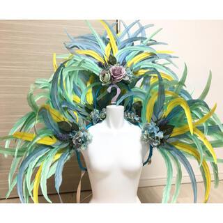 ヘッドドレス&ショルダーコステイロ 紫陽花カラー(衣装一式)