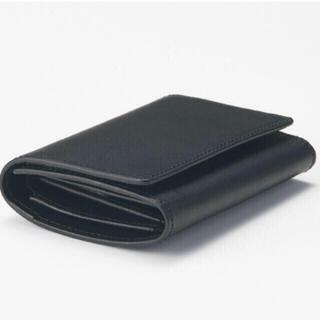 ムジルシリョウヒン(MUJI (無印良品))の【新品】MUJI イタリア産ヌメ革は三つ折り財布  (折り財布)