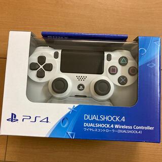 プレイステーション4(PlayStation4)のPS4純正ワイヤレスコントローラ白(DUALSHOCK4) 新品未開封(その他)