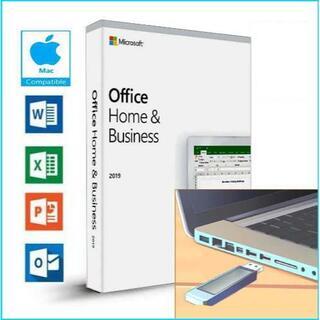 マイクロソフト(Microsoft)のMac版 1PC用 / Office 2019 Home&B /USB式(デスクトップ型PC)