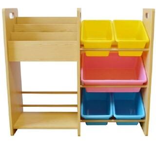 木製ラック おもちゃ棚 おもちゃ箱