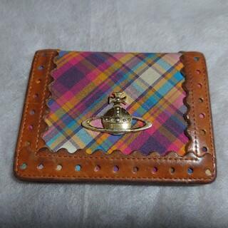 ヴィヴィアンウエストウッド(Vivienne Westwood)の[中古] ヴィヴィアン・ウエストウッド★レアデザイン二つ折りパスケース(パスケース/IDカードホルダー)