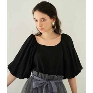 ラベルエチュード(la belle Etude)のla belle etude BIGバルーン袖ブラウス ブラック(シャツ/ブラウス(半袖/袖なし))