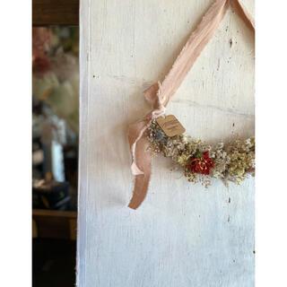 〜秋を迎えに〜小花を紡いだフラワータペストリー○ドライフラワー(ドライフラワー)