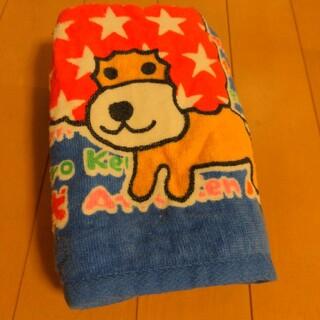 サンエックス(サンエックス)のアフロ犬フェイスタオル 殿様犬 ブルー 入手困難(タオル/バス用品)