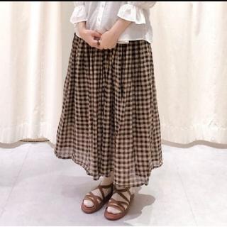 サマンサモスモス(SM2)のサマンサモスモス ボイルギャザースカート※ベージュ(ロングスカート)