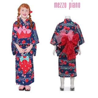 メゾピアノ(mezzo piano)のメゾピアノ 浴衣 120サイズ(甚平/浴衣)