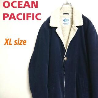 OCEAN PACIFIC - オーシャンパシフィック 紺色 コーデュロイ ボアジャケット ランチジャケット