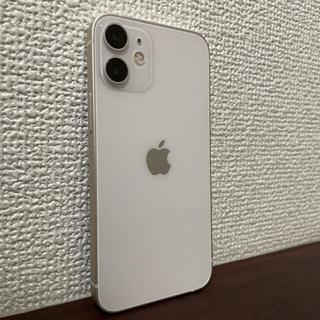アイフォーン(iPhone)の美品♡箱付き iPhone 12 mini ホワイト 64GB SIMフリー(携帯電話本体)