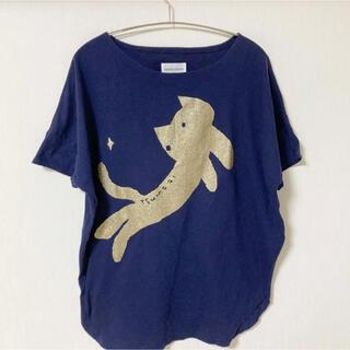 ツモリチサト(TSUMORI CHISATO)の猫ちゃんのドルマンTシャツ(Tシャツ(半袖/袖なし))