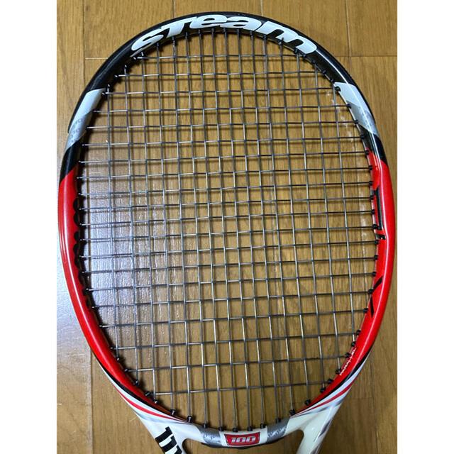 wilson(ウィルソン)の硬式テニスラケット ウィルソン スチーム100 wilson steam100 スポーツ/アウトドアのテニス(ラケット)の商品写真