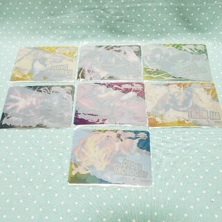 バンダイナムコエンターテインメント(BANDAI NAMCO Entertainment)のヒロアカ ナムコ キャンペーン クリアカードシール 前半 7枚 セット b(カード)
