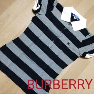 バーバリーブルーレーベル(BURBERRY BLUE LABEL)のBURBERRY ブルーレーベル ポロシャツ ホース刺繍 レディース(ポロシャツ)