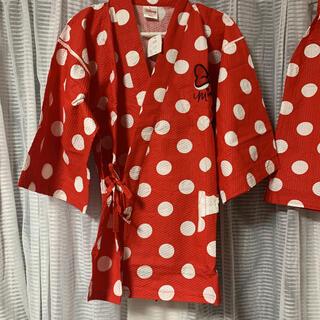 ディズニー(Disney)のミッキーマウス甚平 ミニーマウス甚平 ペアセット(Mサイズ)(浴衣)