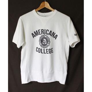 アメリカーナ(AMERICANA)のAmericana(アメリカーナ) ロゴ プリント入り 半袖スウェット(カットソー(半袖/袖なし))