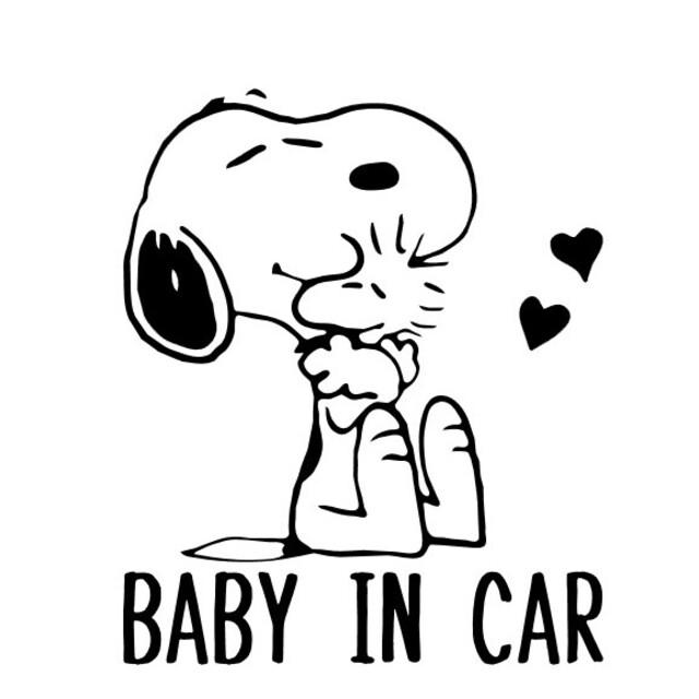 ベイビーインカー キッズインカー カッティングステッカー ハンドメイドのキッズ/ベビー(外出用品)の商品写真