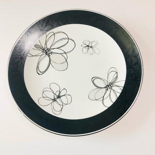 RENOMA - renoma* フラワー モノトーン パーティープレート 大皿
