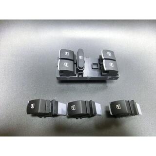 フォルクスワーゲン(Volkswagen)の未使用 アルミ加飾付 VW POLO等 パワーウィンドウスイッチ1台分(車種別パーツ)