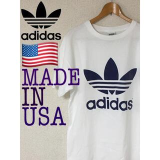 アディダス(adidas)のadidas 両面トレフォイル トレフォイル 両面プリント アメリカ製 USA(Tシャツ/カットソー(半袖/袖なし))